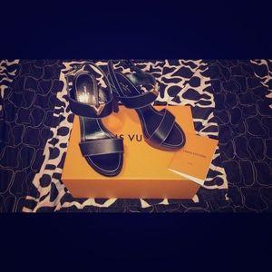 Black Louis Vuitton Bahiana Sandals/Heels